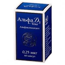 Альфа Д3-Тева, капсулы 0.25 мкг 60 шт