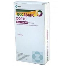 Фосаванс форте таблетки 70 мг+140 мкг 4 шт